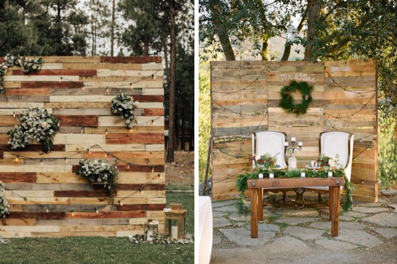 Wooded Backdrops Decor - 2021 Weddings