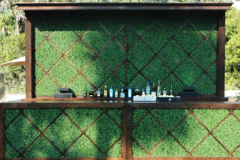 Covered Boxwood Hedge Bar - 2021 Weddings