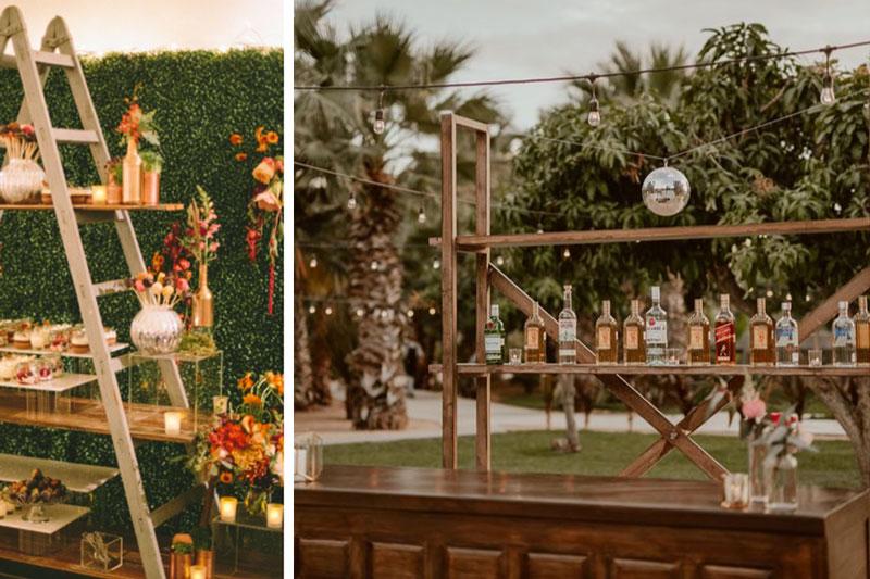 Floral and display ladder - shelving bar - 2021 weddings