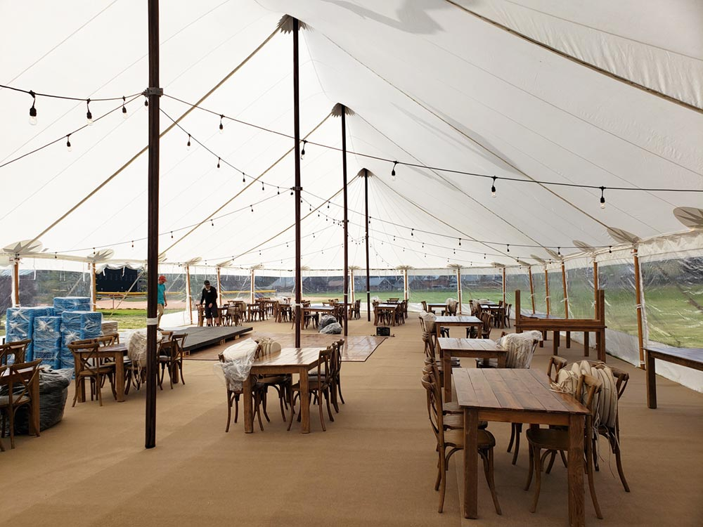 Crested Butte Wedding - 44x103 Sailcloth Tent with flooring