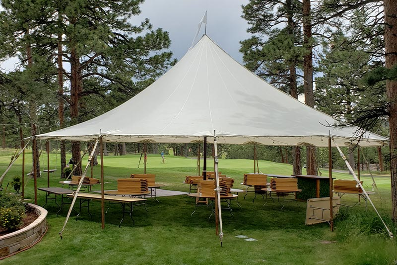44x43 Premium Sailcloth Wedding Tent