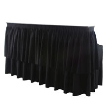 6' bar with linen
